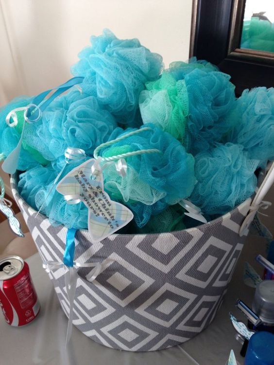 Blue Loofahs Are Great And Very Easy For A Boyu0027s Baby Shower