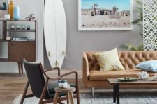 13 place a surf on the floor and add a pic of your beach retreat