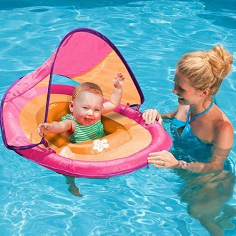 colorful baby float for the smallest kid to have fun in the pool too