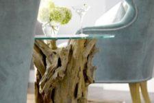 modern driftwood decor