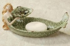 16 mermaid soap holder is a simple and easy idea to realize