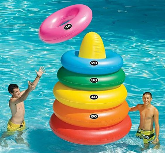 giant ring toss with floats for having fun altogether