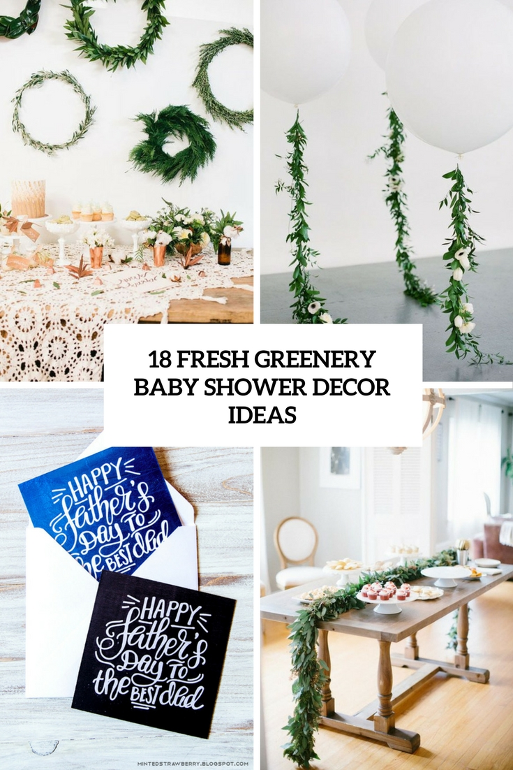 18 fresh greenery baby shower d cor ideas shelterness for Baby shower modern decoration