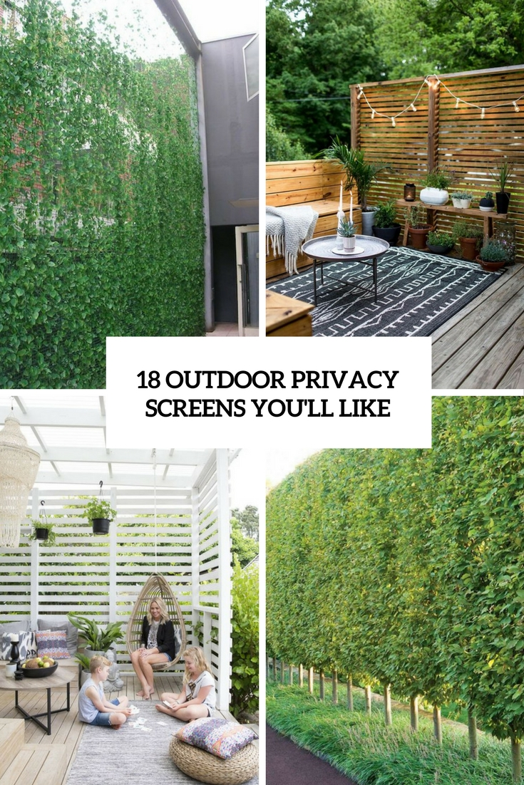 18 Outdoor Privacy Screens You Ll Like Shelterness