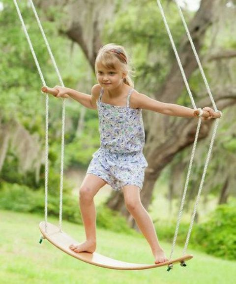 swinging left and right and comfy sticks to hold tight