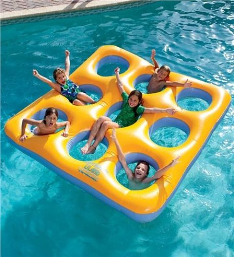 inflatable labyrinth pool float for kids games