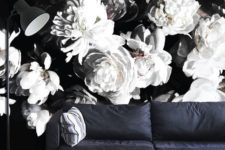 19 moody black and white floral wallpaper makes a statement