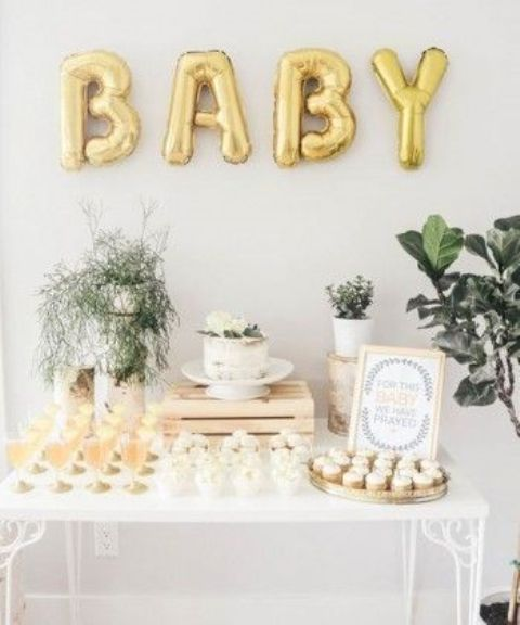 18 fresh greenery baby shower d cor ideas shelterness
