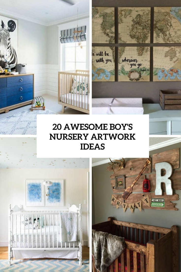 awesome boy's nursery artwork ideas cover