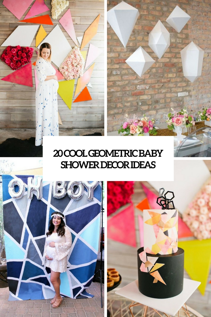 cool geometric baby shower decor ideas cover