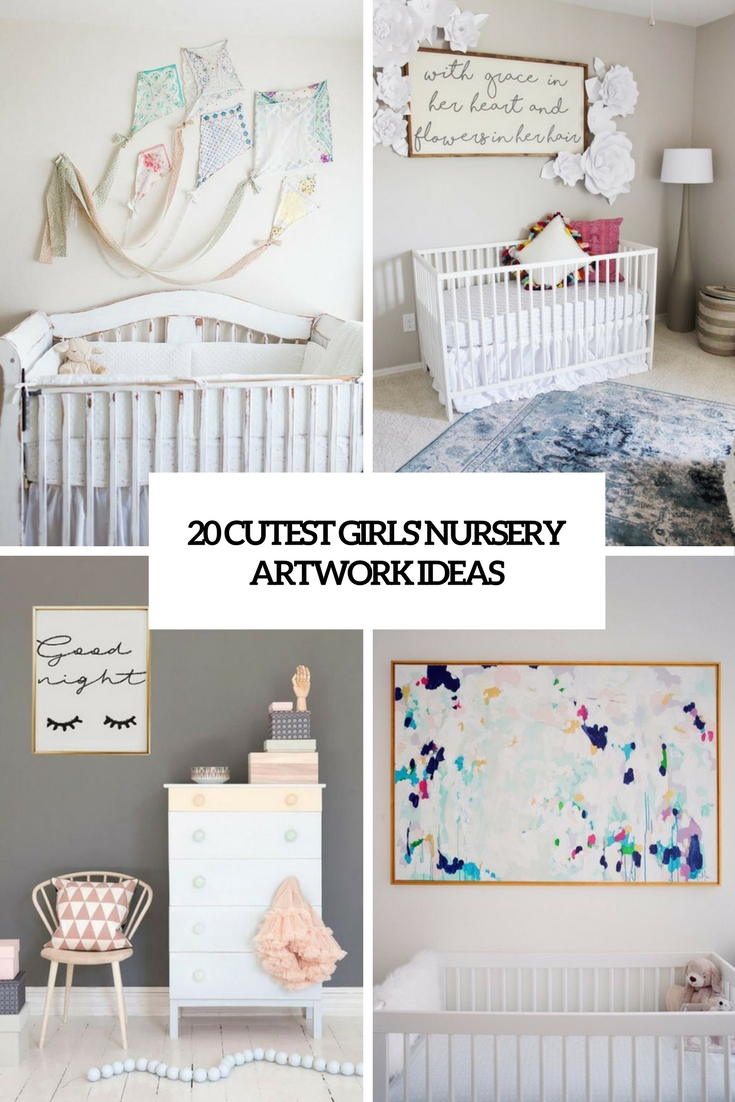 cutest girl's nursery artwork ideas cover