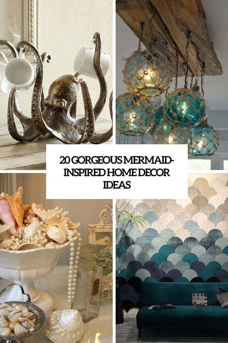 20 gorgeous mermaid inspired home d cor ideas shelterness for Mermaid bathroom decor vintage