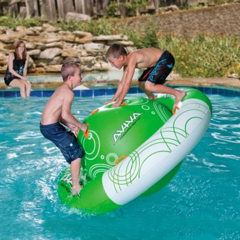 inflatable rocker swimming pool float for active kids