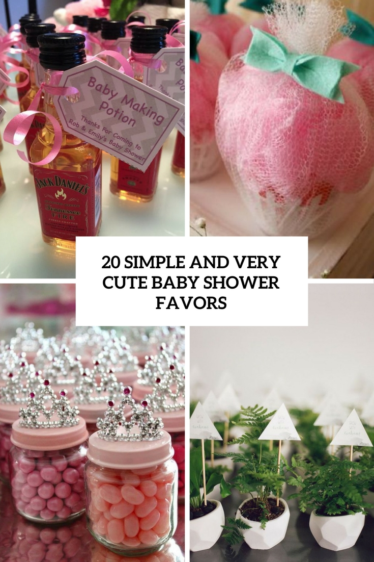 Simple And Very Cute Baby Shower Favors Cover