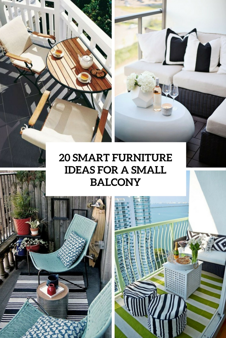 20 Smart Furniture Ideas For A Small Balcony