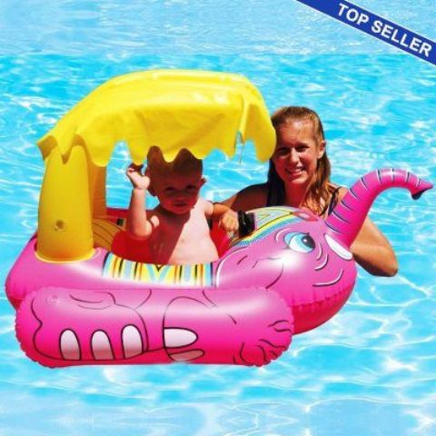 pink elephant pool float for fun