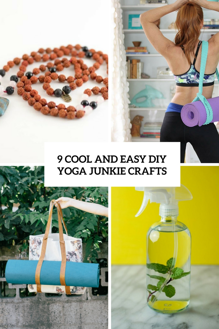 9 cool and easy diy yoga junkie crafts shelterness