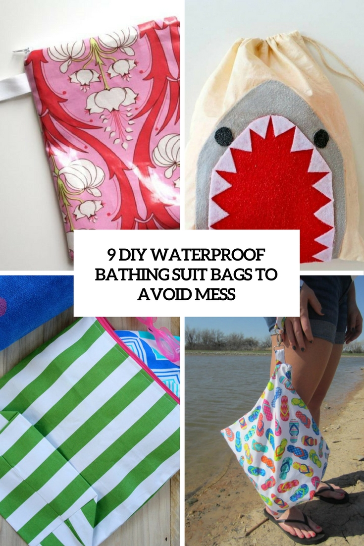 9 diy waterproof bathing suit bags to avoid mess cover