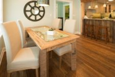 DIY rustic dining table