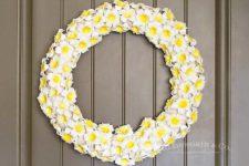 DIY plumeria wreath