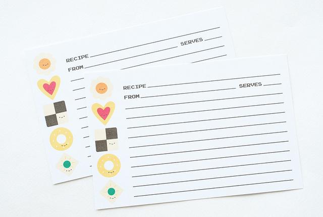 DIY Recipe Cards With Cookie Recipes Via Wildoliveblogspotru