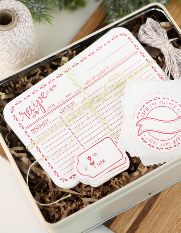 DIY letterpress recipe cards (via damasklove.com)