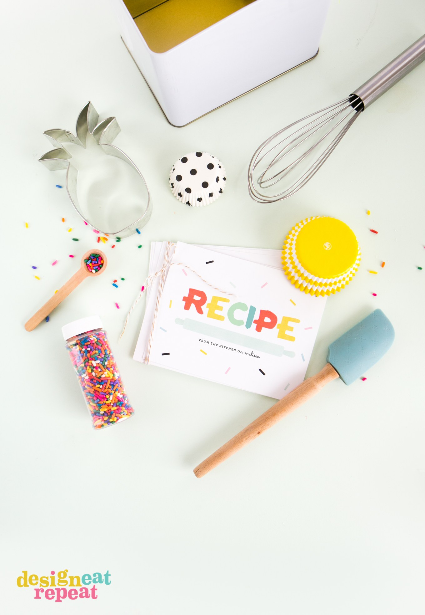 This is an image of Sassy Cute Recipe Cards