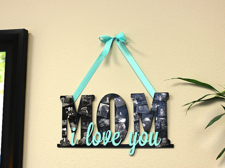 DIY Mother's Day wooden letters sign (via www.craftcuts.com)