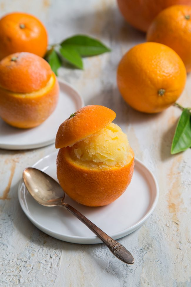 DIY orange sorbet  (via www.thelittleepicurean.com)