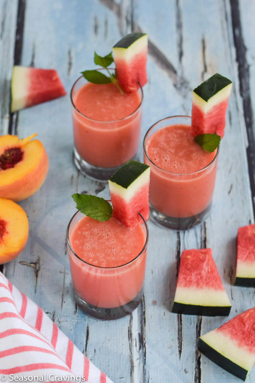 DIY watermelon peach smoothie (via https:)