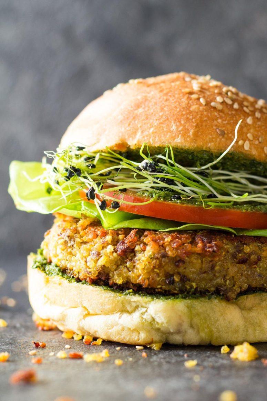DIY fast quinoa burger (via https:)