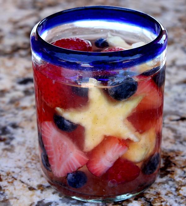 DIY red, white and blue sangria (via www.recipegirl.com)