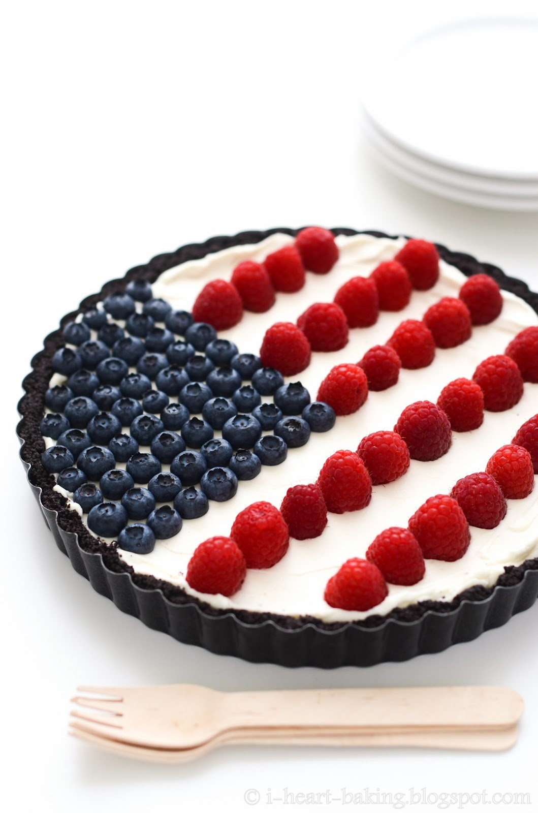 DIY flag tart with fresh berries