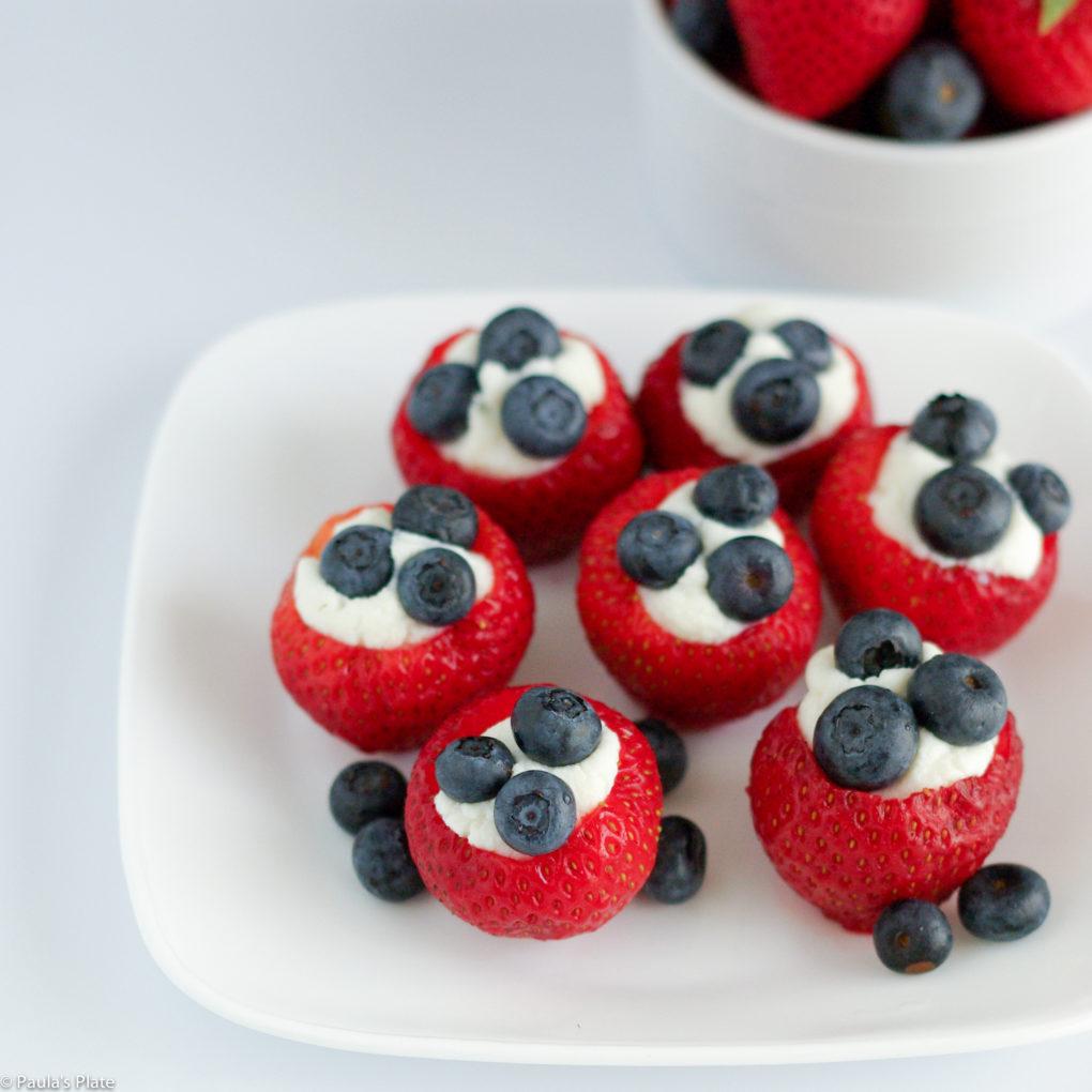 DIY ricotta stuffed strawberries