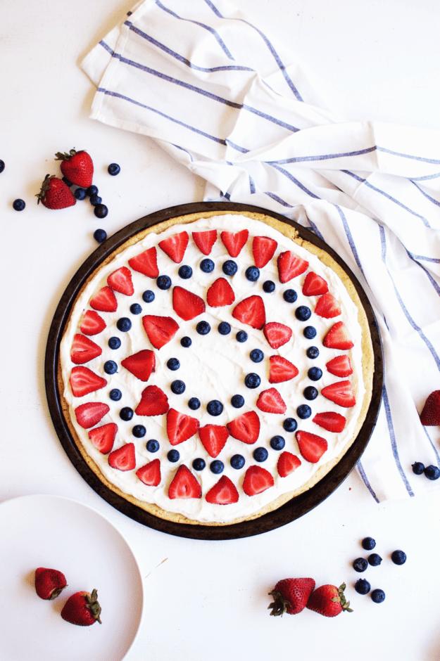 DIY dessert pizza with fresh berries