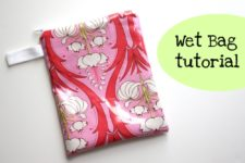 DIY patterned wet bag with a handle