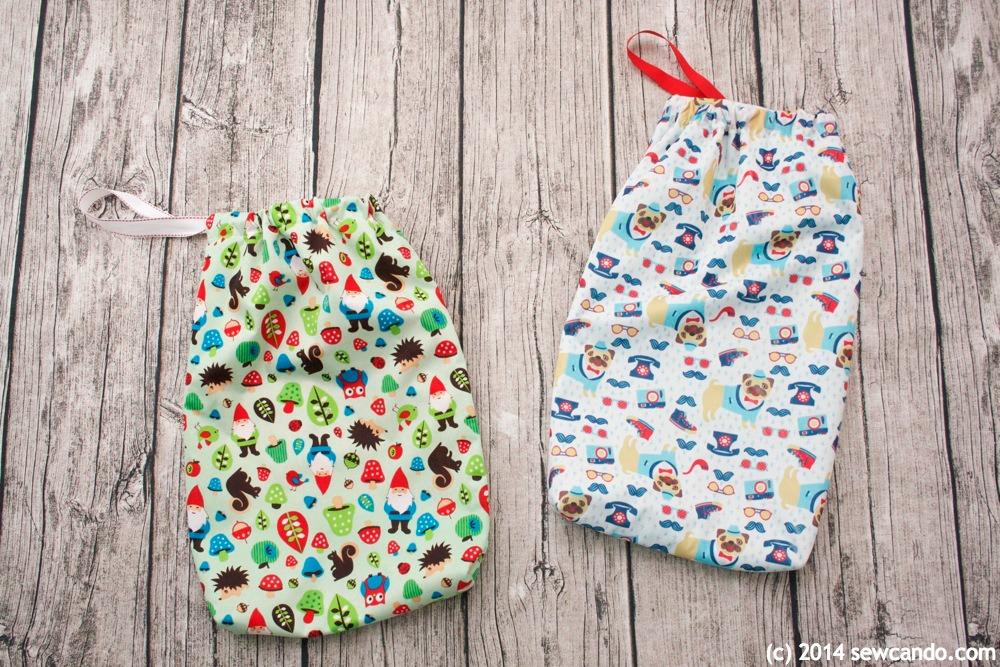 bold DIY printed wet bag for kids