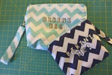 Diy small bikini bag with a handle