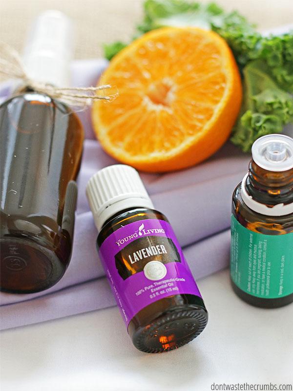 DIY linen spray with essential oils (via dontwastethecrumbs.com)