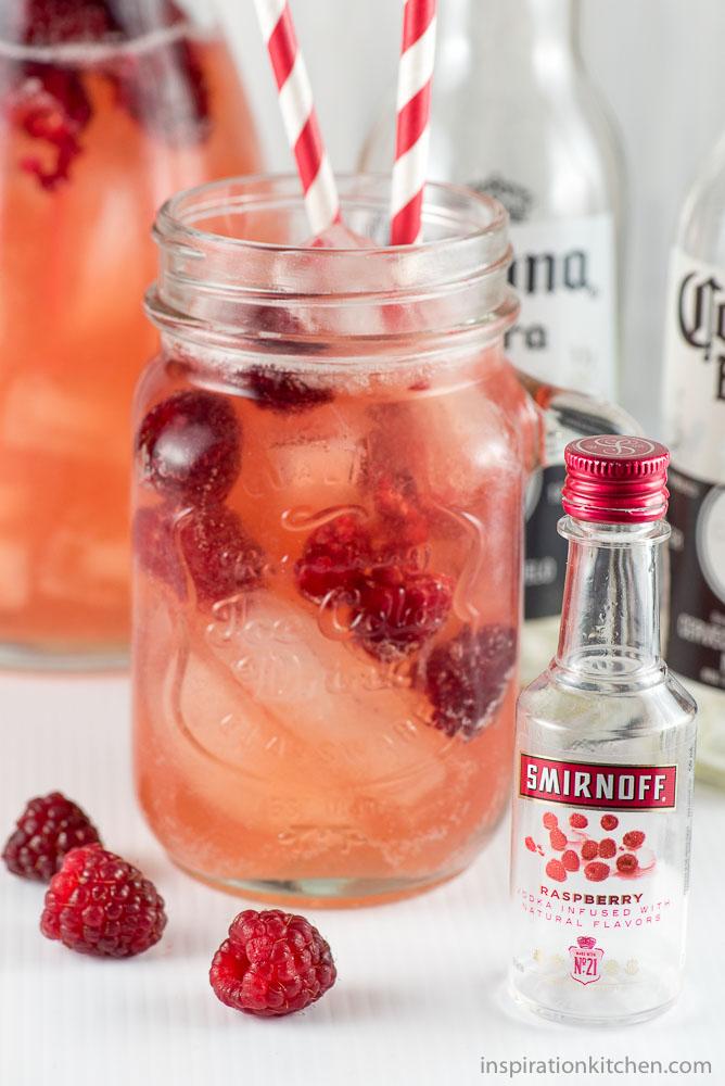 DIY raspberry beer cocktail (via inspirationkitchen.com)