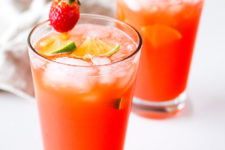 DIY lime strawberry margarita