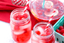 DIY raspberry rose sangria