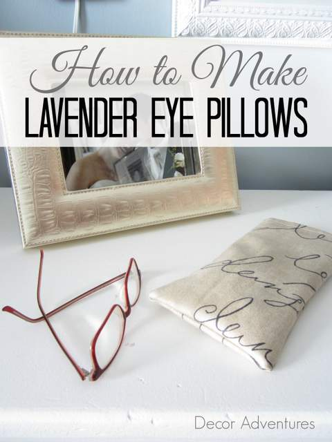 DIY lavender eye pillows
