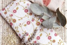 DIY plant dyed pillow