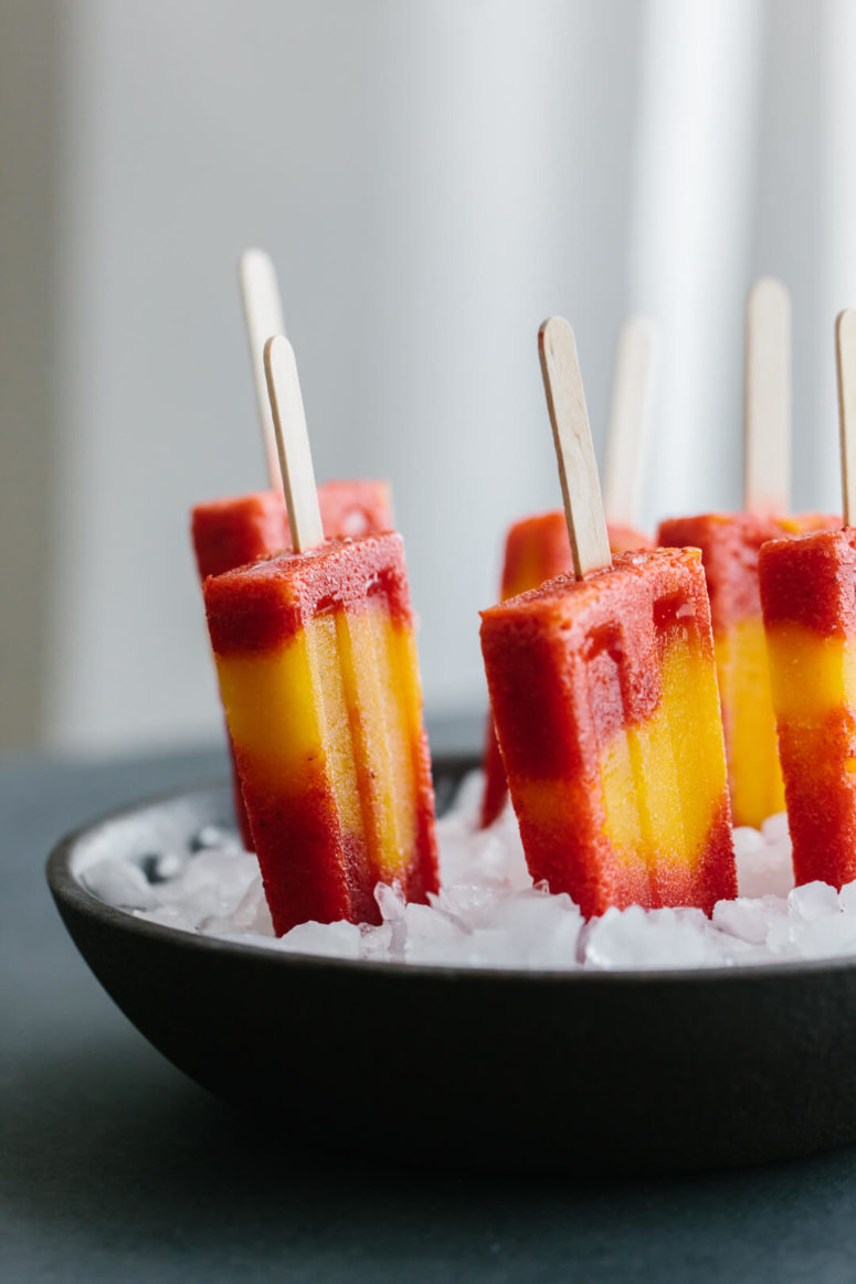 DIY mango strawberry popsicles (via https:)
