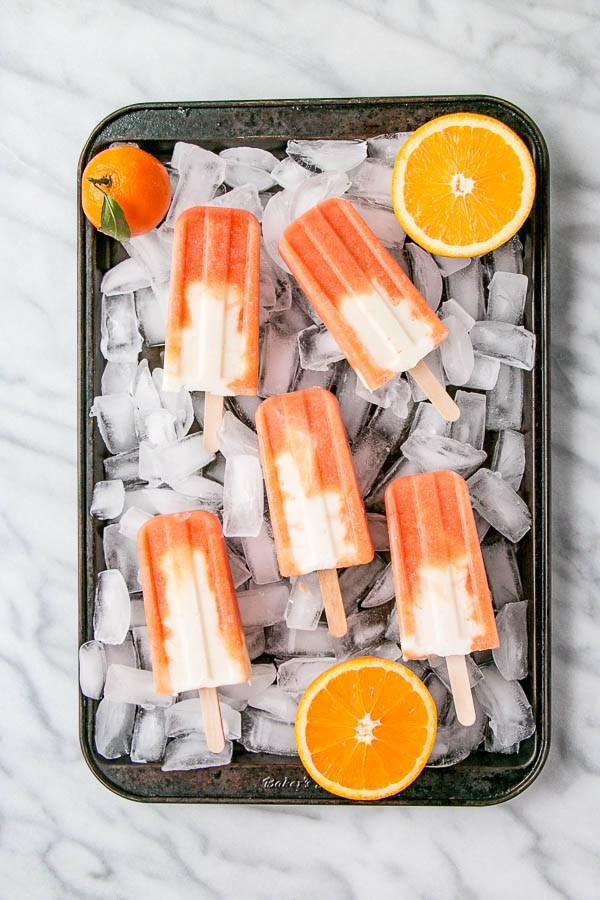 DIY orange and yogurt popsicles (via www.mykitchenlove.com)