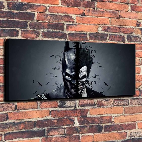 Batman Joker art print piece looks stunning