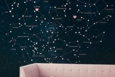 02 Zodiac constellation wall with constellations of the owners specified