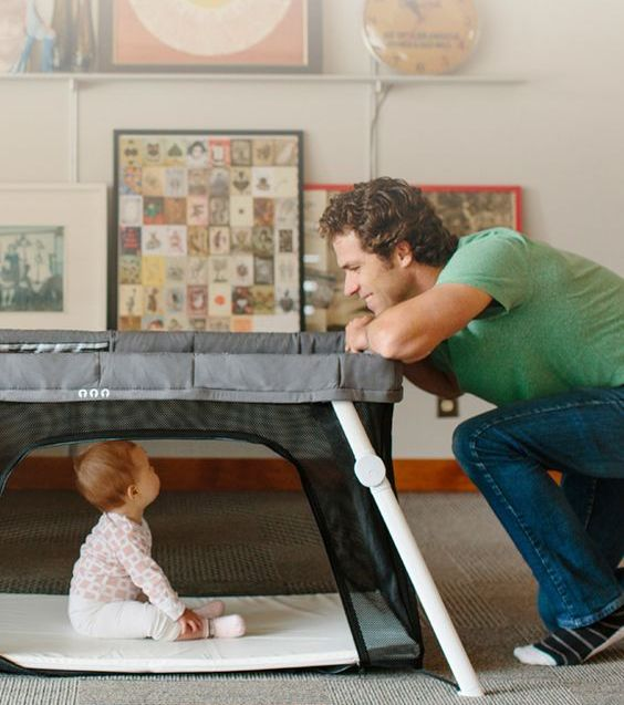 a portable crib fits in a backpack bag and is durable