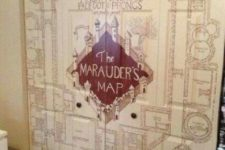 02 the Marauder's Map can become a gorgeous wall mural for any space